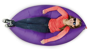 Lamzac Purple Kids Lounger