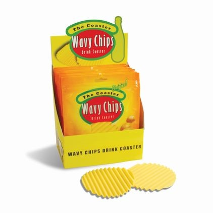 Wavy Chip Drink Coasters  |  Play Visions, Club Earth & Cascade Toys