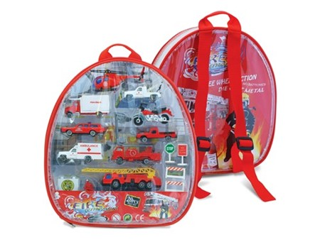 Fire Department Backpack Playset